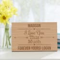 "Personalized ""I Love You"" Wood Postcard for $18 + pickup at Walmart"