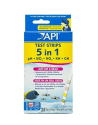 5-in-1 Aquarium Test Strips 25-Count Box for $6 + free shipping
