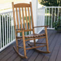 Mainstays Outdoor Wood Slat Rocking Chair for $64 + free shipping