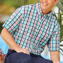 Blair Men's Scandia Woods Seersucker Shirt for $12 + free shipping