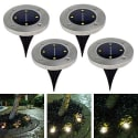4-LED Solar Outdoor Path Spot Lamp 4-Pack for $20 + free shipping