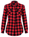 Mixfeer Women's Roll Up Button Down Shirt for $6 + free shipping w/ Prime