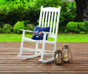 Mainstays Solid Wood Slat Outdoor Rocking Chair for $70 + free shipping
