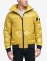 DKNY Men's Mixed Media Puffer Bomber Jacket for $75 + free shipping, padding
