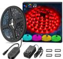Minger 16-ft Music LED Strip Lights $14 + free shipping w/ Prime