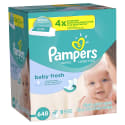 648 Pampers Baby Wipes for $12 + free shipping