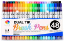 Smart Color Art Dual Tip Brush Pen 48-Pack for $16 + free shipping