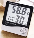 Digital Alarm Clock w/ Calendar, Hygrometer for $4 + free shipping