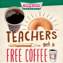 Krispy Kreme Coffee for Teachers: free w/ purchase