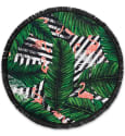 "Lamont 59"" Flamingo Round Beach Towel for $30 + free s&h w/beauty item"