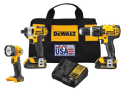 Dewalt 3-Tool Cordless Combo Kit for $199 + free shipping