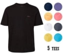 Greg Norman Men's Pocket T-Shirt 5-Pack for $50 + free shipping