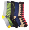 Refael Collection Men's Casual Socks 5-Pack for $9 + free shipping