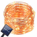 Oak Leaf 20-Foot Solar LED String Lights for $7 + free shipping w/ Prime