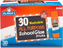 Elmer's Washable School Glue Sticks 30-Pack for $8 + free shipping