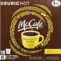 72 McCafe Breakfast Blend Coffee K-Cups for $38 + free shipping