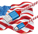 CSHope 5-Foot USA-Themed Braided USB Cable for $5 + free shipping w/ Prime