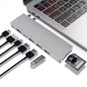 Sunteck 8-Port USB-C MacBook Pro Adapter Hub for $30 + free shipping