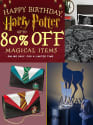 Harry Potter Birthday Sale at ThinkGeek: Up to 80% off + free shipping w/ $75