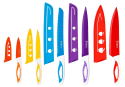 Ebaco 10-Piece Colorful Knife Set for $10 + free shipping w/ Prime