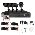 4-Ch. 4-Camera 900TVL DVR Security System for $60 + free shipping
