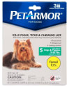 PetArmor Flea & Tick Treatment for Small Dogs for $9 + free shipping