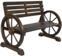 Best Choice Wooden Wagon Wheel Bench for $85 + free shipping