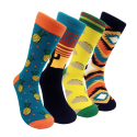 Hsell Men's Colorful Dress Socks 4-Pack for $6 + free shipping w/ Prime
