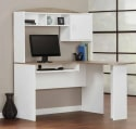Mainstays L-Shaped Desk with Hutch for $84 + free shipping