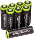 AmazonBasics AA Rechargeable Batteries 8-Pack for $14 + free shipping w/ Prime