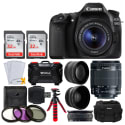 Canon EOS 80D 24MP DSLR Camera Kit for $1.049 + free 2-day shipping