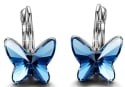 Brilla Women's Swarovski Butterfly Earrings for $11 + free shipping w/Prime