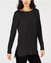 Maison Jules Women's High-Low Hem Sweater for $6 + pickup at Macy's