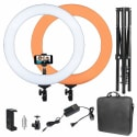 "Mactrem 19"" LED Ring Light with Stand for $90 + free shipping"