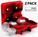 Diamond Silicone Ice Cube Tray 2-Pack for $4 + free shipping w/ Prime