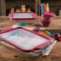 The Pioneer Woman 8pc Glass Bake/Store Set for $18 + pickup at Walmart