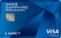 Chase Sapphire Preferred® Card: 50,000 bonus points