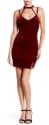 Lush Women's Velvet Choker Neck Bodycon Dress for $17 + $8 s&h