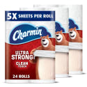24 Charmin Family Mega Toilet Paper Rolls for $22 + free shipping