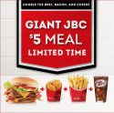 Wendy's Giant Jr. Bacon Cheeseburger Meal for $5