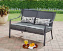 Mainstays Alexandra Square Outdoor Loveseat Garden Bench for $90 + free shipping