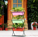 iKayaa 3-Tier Metal Folding Plant Stand for $20 + free shipping