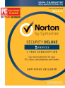 Norton Security Deluxe 5-Device 1-Year Sub for $30 + free shipping