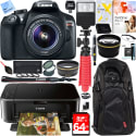 Canon EOS Rebel T6 18MP DSLR Camera Bundle for $449 + free 2-day shipping