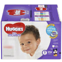 174 Huggies Little Movers Size 3 Diapers for $23 + free shipping w/ Prime