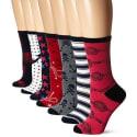 Betsey Johnson Women's Socks 7-Pairs for $1 + $8 s&h