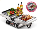 Gourmia Digital Dual Indoor Grill for $60 + free shipping