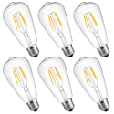 LuminWiz Vintage Edison LED Light Bulb 6-Pack for $13 + free shipping w/ Prime