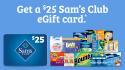 $25 Sam's Club Gift Card: free w/ $100 P&G purchase