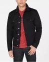 Armani Exchange Men's Slim-Fit Black Trucker Jacket for $126 + free shipping